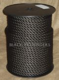 10 Metres 12mm Black Multifilament  Polypropylene Rope